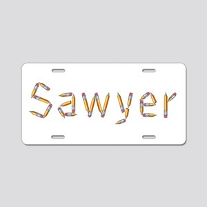 Sawyer Pencils Aluminum License Plate