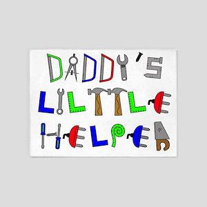 Daddys Little Helper 5'x7'Area Rug