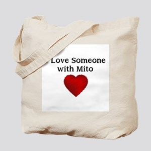 I Love Someone with Mito Tote Bag
