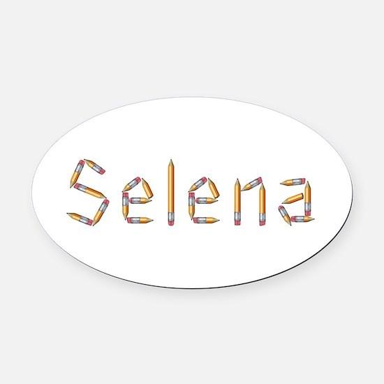 Selena Pencils Oval Car Magnet