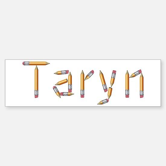 Taryn Pencils Bumper Car Car Sticker