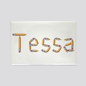 Tessa Pencils Rectangle Magnet