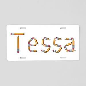 Tessa Pencils Aluminum License Plate