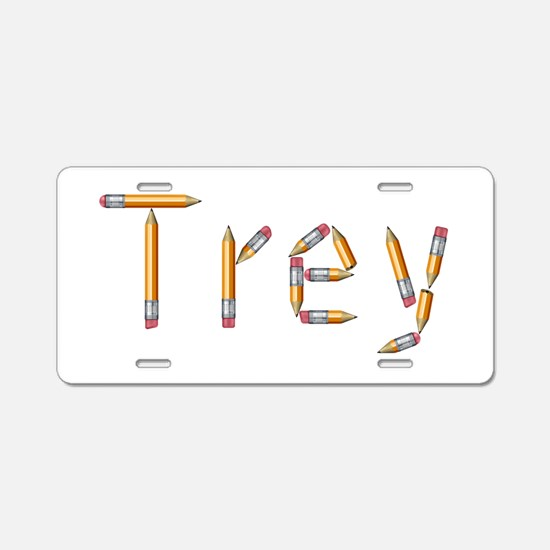 Trey Pencils Aluminum License Plate