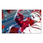 9/11 Liberty Rectangle Sticker