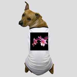 Bright Pink Orchid Flowers. Dog T-Shirt