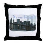 WTC Never Forget Throw Pillow