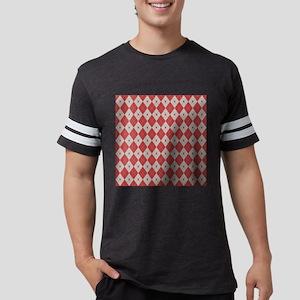 Argyle:  Aurora Red and Alumin Mens Football Shirt