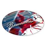 9/11 Remember Oval Sticker