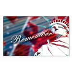 9/11 Remember Rectangle Sticker