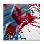 9/11 Remember Tile Coaster
