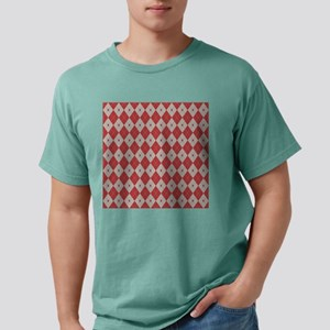 Argyle:  Aurora Red and  Mens Comfort Colors Shirt