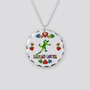 Lizard Lover Necklace Circle Charm