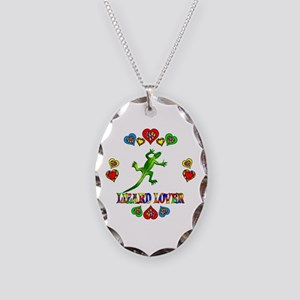 Lizard Lover Necklace Oval Charm