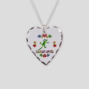 Lizard Lover Necklace Heart Charm
