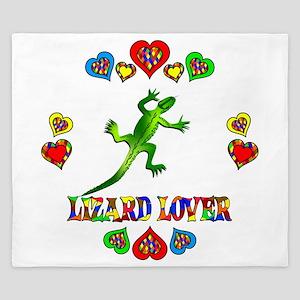 Lizard Lover King Duvet