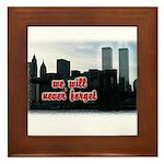 9/11 We Will Never Forget Framed Tile