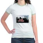 9/11 We Will Never Forget Jr. Ringer T-Shirt