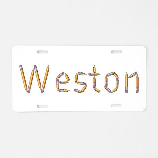 Weston Pencils Aluminum License Plate