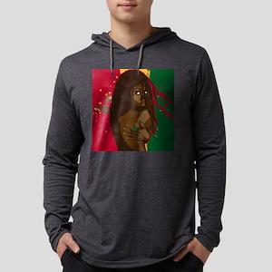 Rasta Girl Mens Hooded Shirt