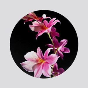 Pink Flowers. Orchid. Ornament (Round)