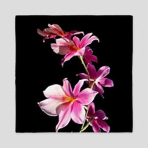 Pink Flowers. Orchid. Queen Duvet