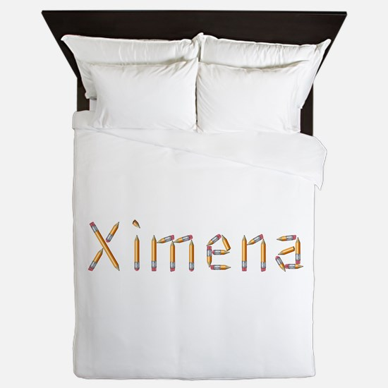 Ximena Pencils Queen Duvet