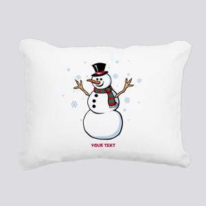 Custom Snowman Rectangular Canvas Pillow