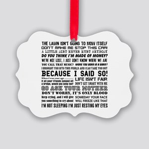 Dad-isms Picture Ornament