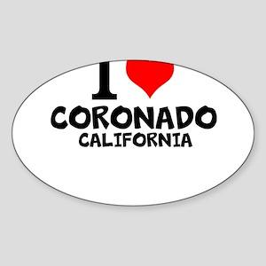 I Love Coronado, California Sticker