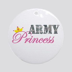 Army Princess Ornament (Round)