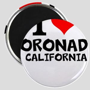 I Love Coronado, California Magnets