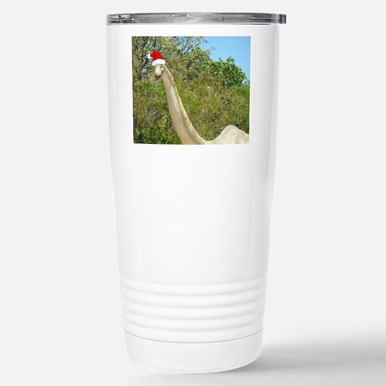 Christmas Dinosaur Stainless Steel Travel Mug