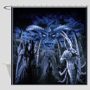 Gothic Horror Witchcraft Demon Shower Curtain