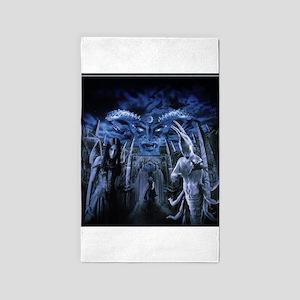 Gothic Horror Witchcraft Demon 3'x5' Area Rug
