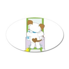 Cute Puppy Bathroom Wall Decal