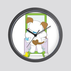 Cute Puppy Bathroom Wall Clock