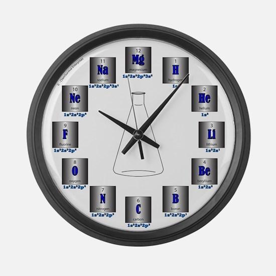 Elemental Symbols Large Wall Clock