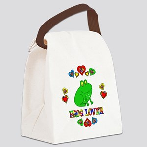 Frog Lover Canvas Lunch Bag