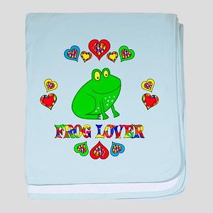 Frog Lover baby blanket
