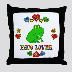 Frog Lover Throw Pillow
