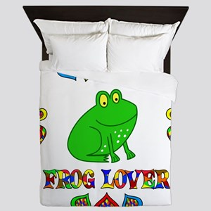 Frog Lover Queen Duvet