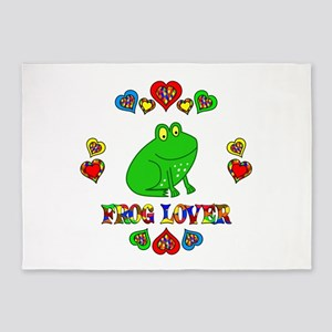 Frog Lover 5'x7'Area Rug