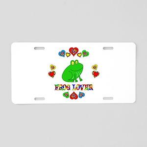 Frog Lover Aluminum License Plate