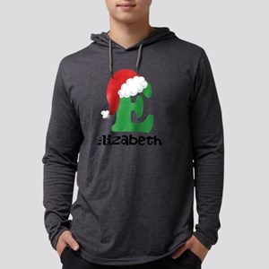 Christmas Santa Hat E Monogram Mens Hooded Shirt