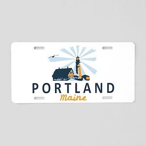 Portland Me Aluminum License Plate