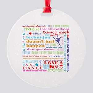 Ultimate Dance Collection Round Ornament