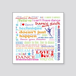 "Ultimate Dance Collection Square Sticker 3"" x"