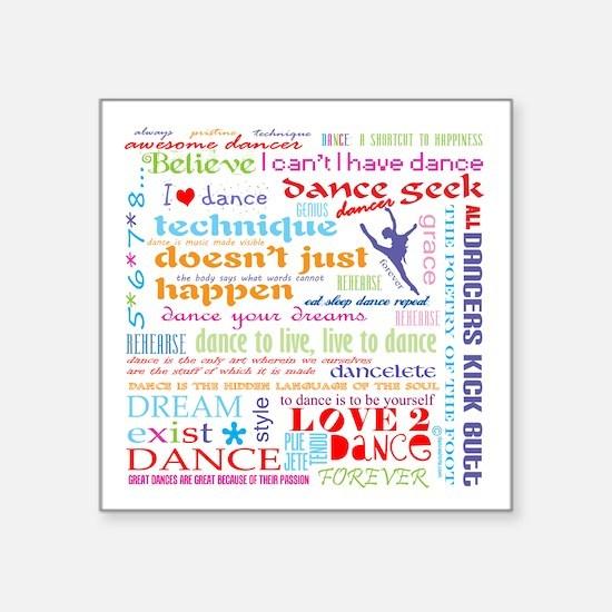 "Ultimate Dance Collection Square Sticker 3"" x"