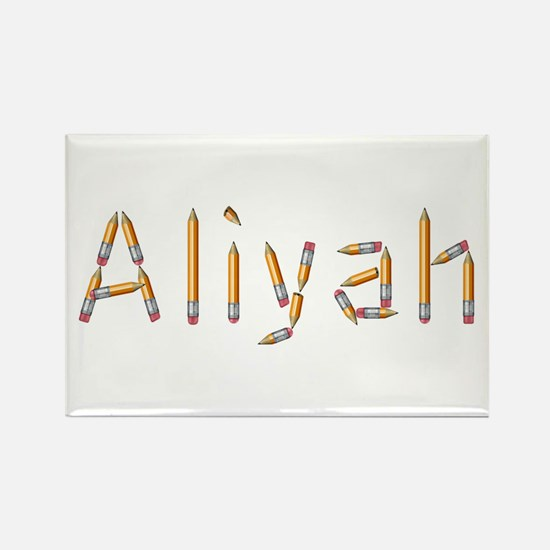 Aliyah Pencils Rectangle Magnet